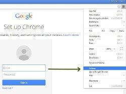 How to find Google Chrome Settings