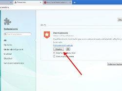 How to disable extensions in Opera