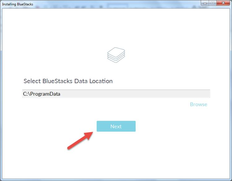 Select Bluestacks Data Location