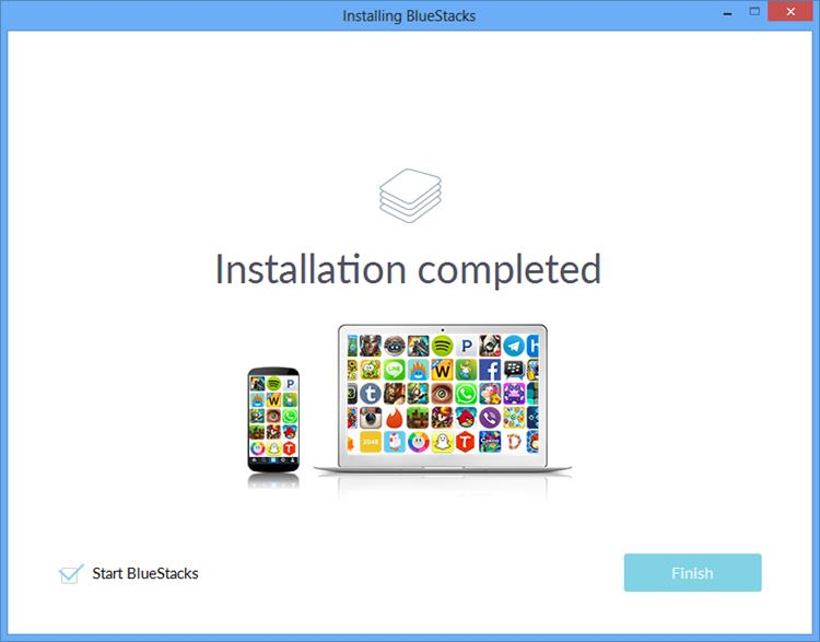 Bluestacks For Windows Installation Completed
