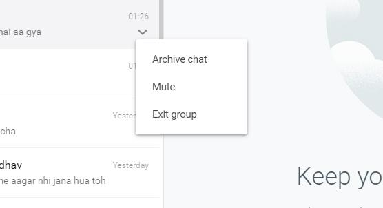 Manage Groups with WhatsApp Web