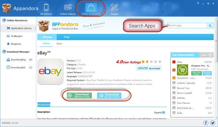 Launch Appandora Free App Store