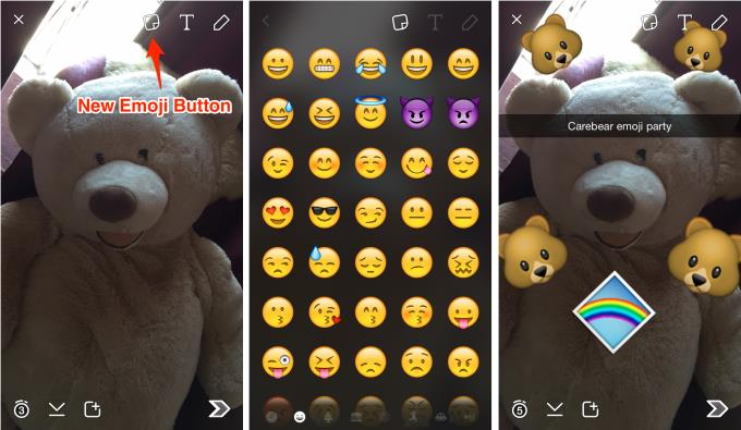 Snapchat placeable Emoji