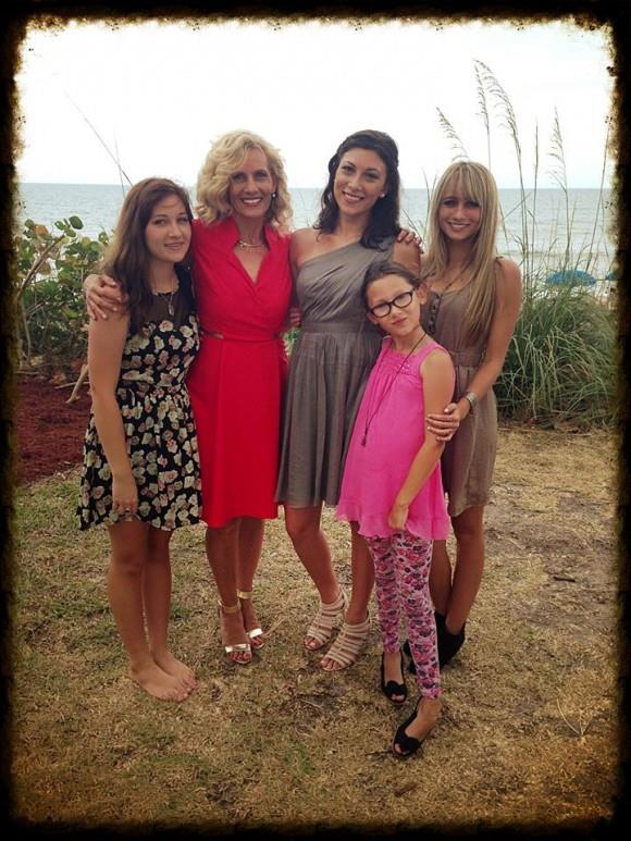 Melody with four of her daughters.