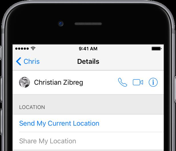 iOS 9 Settings iCloud Share My Location iPhone screenshot 002