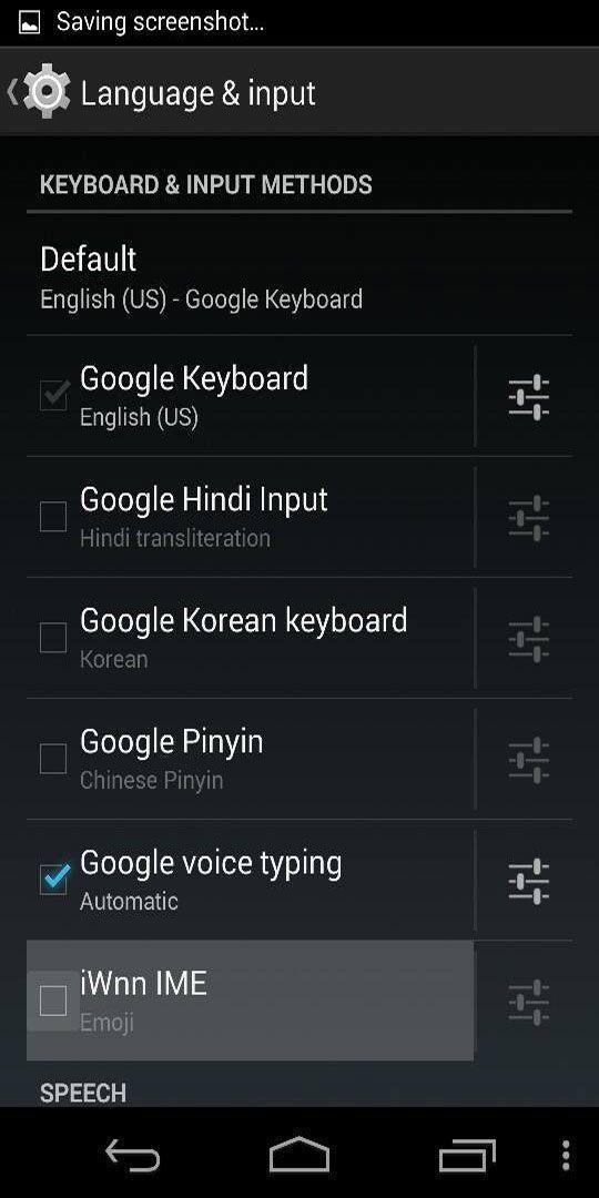 Screenshot of iWnn IME feature on Nexus 5