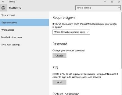 account settings in Windows 10 PC 2