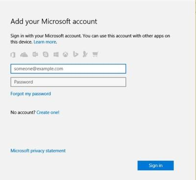 account settings in Windows 10 PC 1