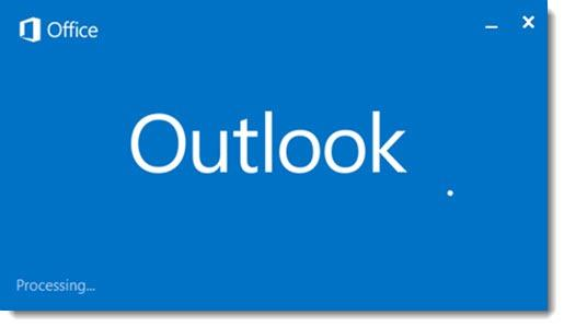 """Outlook """"processing"""""""