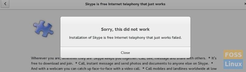 Skype Installation Error in Fedora