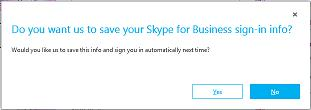 Skype Save Sign In