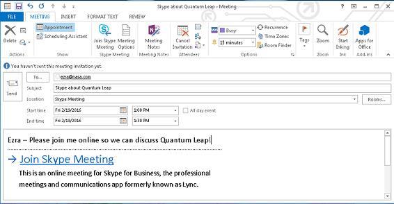 Schedule Skype Add Addresses