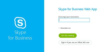 Join Skype Enter Name