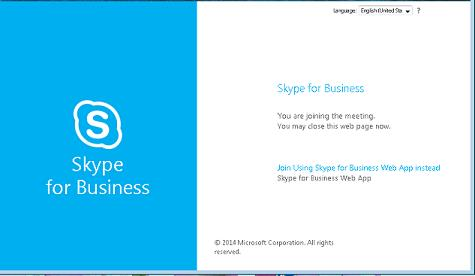 Join Skype with Web App
