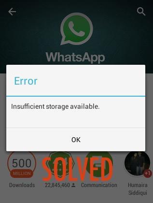 cannot update whatsapp