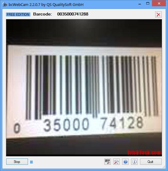 bcWebCam - Scan Barcodes with Webcam