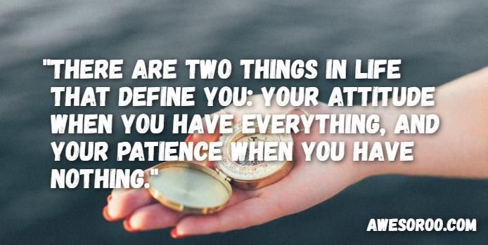 patience attitude status