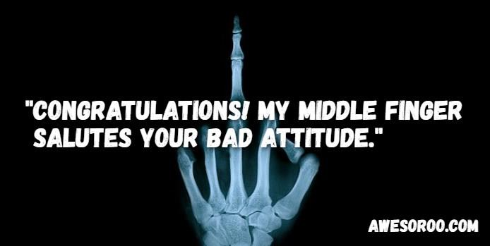 middle finger attitude image