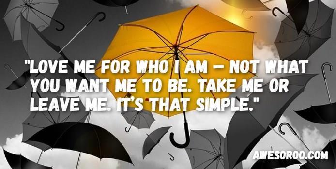 love me attitude quote