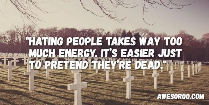 grave attitude quote