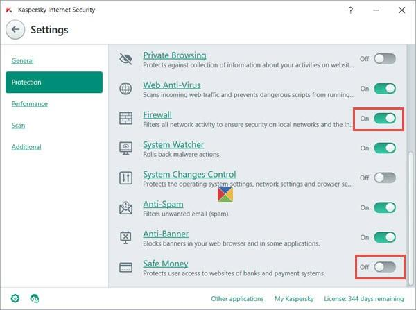 Turn Off Kaspersky Firewall Safe Money