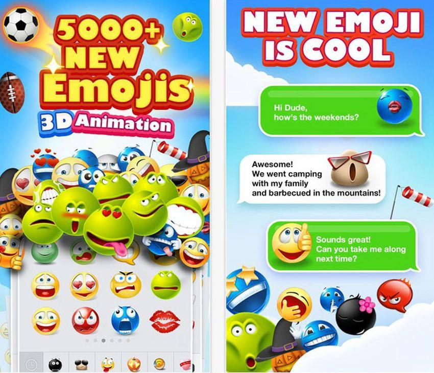 Impress your friends by sending them 3D-animated emoji and text art. These icons can be used in text messages, WhatsApp, Kik, WeChat and other messaging platforms. Emojidom Smileys is only available for iOS devices.