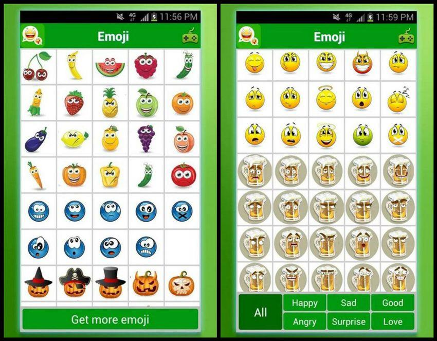 With more than 20 categories to choose from, this easy-to-use app lets you select your favorite icon and send it through any messaging application. You can convey how you're feeling through emoji with facial expressions, beer, fruit, pumpkins and more. If you don't know where to start, you can choose from these categories: happy, sad, good, angry, surprise and love. Emoji is only available for Android devices.