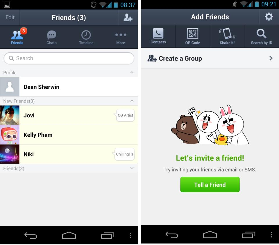 Add friends and start using LINE