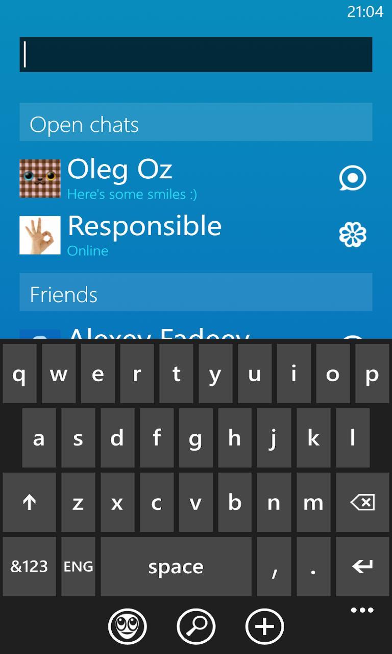 Agent + ICQ Screenshot