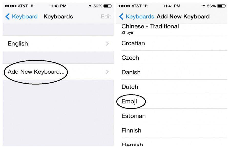 Step 3: How to enable emoji on iOS devices
