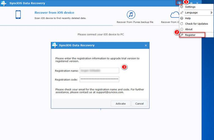 register syncios data recovery windows version