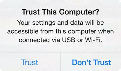 trust this computer prompt