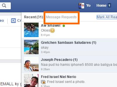 Windows - Facebook - Message - Message Requests