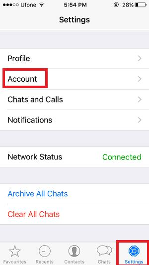 Settings and Account