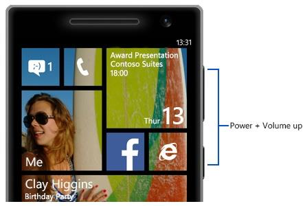 How to Take screenshot On windows Phones