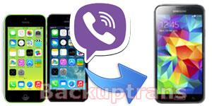 Transfer Viber Message History from iPhone to Android