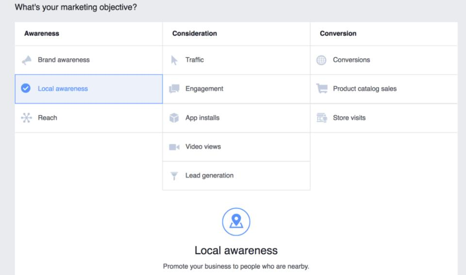 facebook messenger ads local business awareness