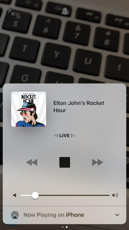 Add music to Snapchat by playing a song from Control Center