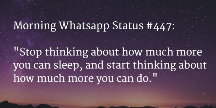 good morning status 30