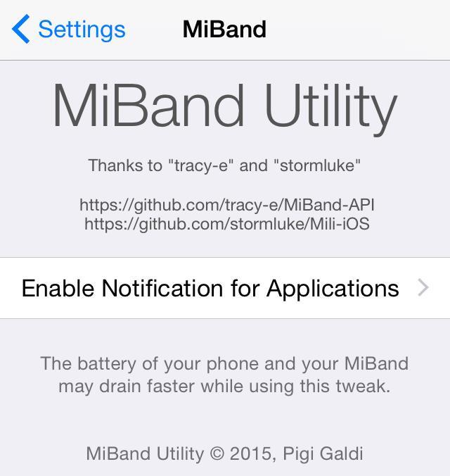 MiBand Utility