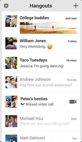 Google Hangout iOS Screenshot