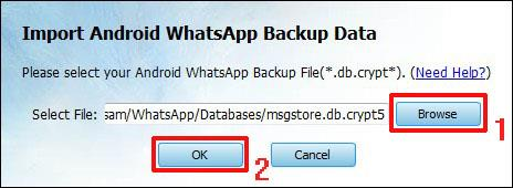 Extract Android WhatsApp Backup Messages