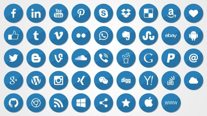 Social Media Icons for PowerPoint | ShapeChef