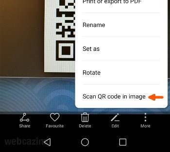 honor8 scan ar code in image