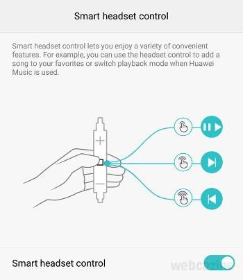 honor8 smart headset control