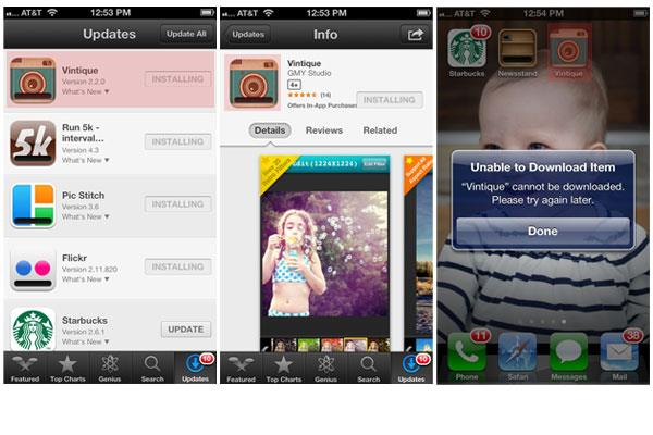 Fix waiting iPhone apps