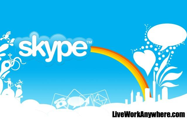 Skype | Top 7 Communications Apps To Use While Traveling | Live Work Anywhere