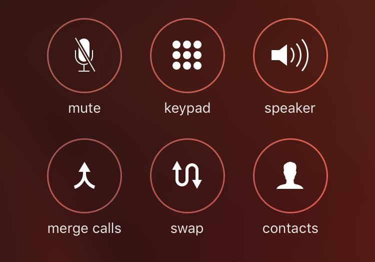 iOS 9 Phone app Now Calling screen Merge Calls iPhone screenshot 001