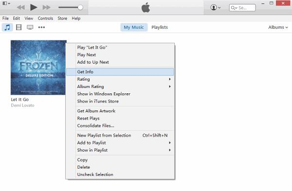 Get Music info in iTunes 12