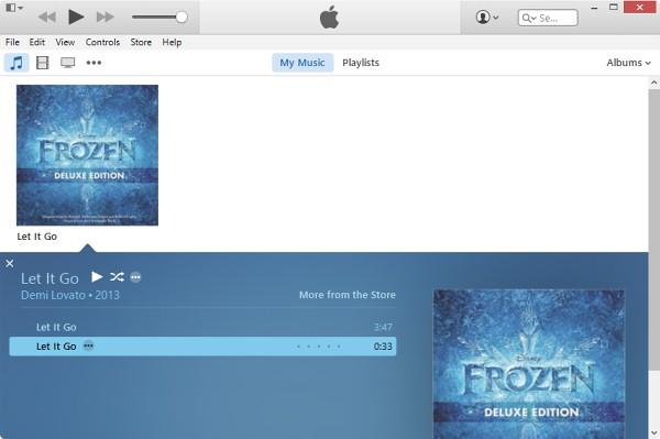 AAC version song appear on iTunes 12